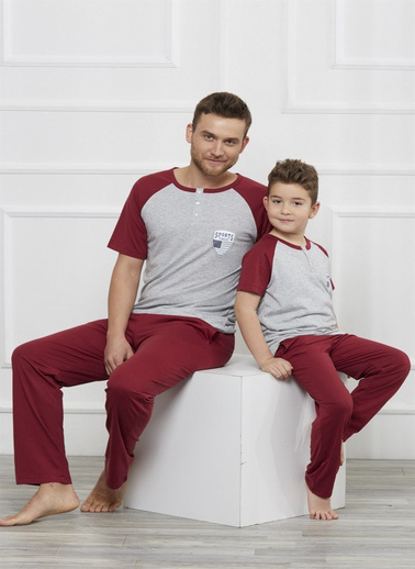 Obje Pijama Takım Bordo